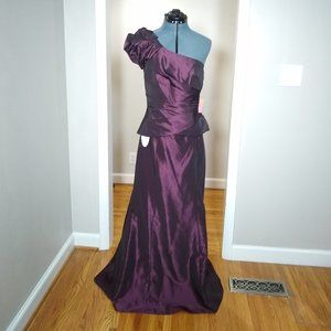 NWT! Alfred Angelo Bridesmaid Purple Gown Size 10